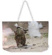 U.s. Marine Fires A Rocket-propelled Weekender Tote Bag