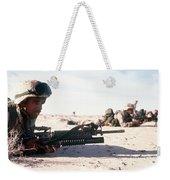 U.s. Marine Guards The Camp Perimeter Weekender Tote Bag