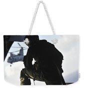 U.s. Marine Looks Out The Back Weekender Tote Bag