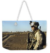 U.s. Marine Posts Security Weekender Tote Bag