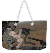 U.s. Marine Test Firing An M240 Heavy Weekender Tote Bag