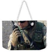 U.s. Marine Uses A Mbitr Anprc-148 Weekender Tote Bag by Stocktrek Images