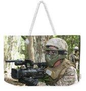 U.s. Marine Videotapes Combat Exercises Weekender Tote Bag