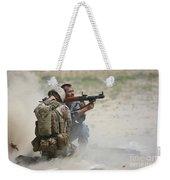 U.s. Marine Watches An Afghan Police Weekender Tote Bag