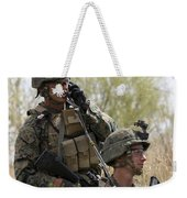 U.s. Marines Communicate Weekender Tote Bag