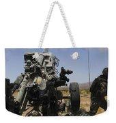 U.s. Marines Fire An M777 Howitzer Weekender Tote Bag