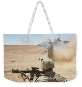 U.s. Marines Fire Several Weekender Tote Bag