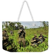 U.s. Marines Guard An Extraction Point Weekender Tote Bag