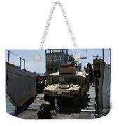 U.s. Marines Load An M1114 Humvee Onto Weekender Tote Bag