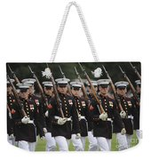 U.s. Marines March By During The Pass Weekender Tote Bag