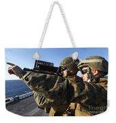 U.s. Marines Practice Firing Weekender Tote Bag