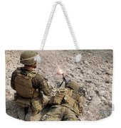 U.s. Marines Provide Suppressive Fire Weekender Tote Bag