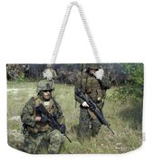 U.s. Marines Secure A Perimeter Weekender Tote Bag