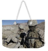 U.s. Marines Take A Break Weekender Tote Bag