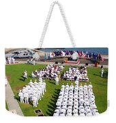 U.s. Navy Sailors Attend An Weekender Tote Bag