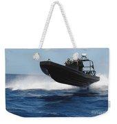 U.s. Navy Sailors Operate A Nine-meter Weekender Tote Bag