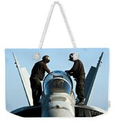 U.s. Navy Sailors Wipe Down The Canopy Weekender Tote Bag