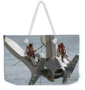 U.s. Navy Servicemen Apply A Coat Weekender Tote Bag