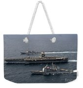 U.s. Navy Ships Transit The Atlantic Weekender Tote Bag