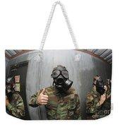 U.s. Navy Soldier Shows He Is Stable Weekender Tote Bag