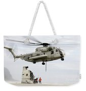 U.s. Sailors Assist A Ch-53d Sea Weekender Tote Bag