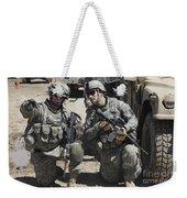 U.s. Soldiers Coordinate Security Weekender Tote Bag by Stocktrek Images