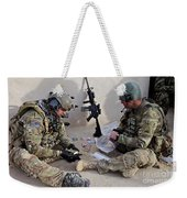 U.s. Soldiers Count Money Found While Weekender Tote Bag