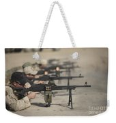 U.s. Soldiers Firing Pk 7.62 Mm Weekender Tote Bag