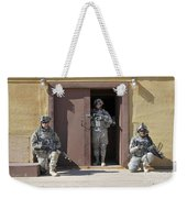 U.s. Soldiers On Guard At Fort Irwin Weekender Tote Bag
