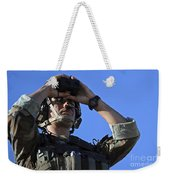 U.s. Special Operations Soldier Looks Weekender Tote Bag