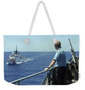 Uscgc Thetis Approaches A German Combat Weekender Tote Bag