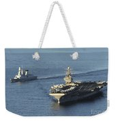 Uss Abraham Lincoln And French Navy Weekender Tote Bag