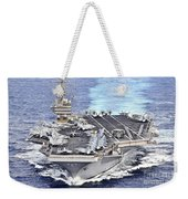 Uss Abraham Lincoln Transits Weekender Tote Bag