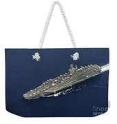 Uss Abraham Lincoln Transits The Indian Weekender Tote Bag by Stocktrek Images
