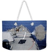 Uss Halsey Fires Its Mk-45 Weekender Tote Bag