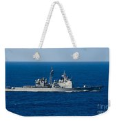 Uss Mobile Bay Transits The Pacific Weekender Tote Bag