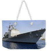 Uss Monterey Arrives Weekender Tote Bag