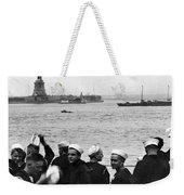 Uss Pennsylvania Sailors Cheer Weekender Tote Bag