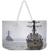 Uss Porter And Uss Nitze Participate Weekender Tote Bag