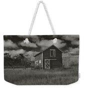 Utah Barn In Black And White Weekender Tote Bag