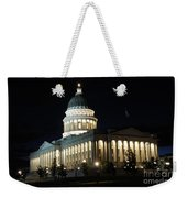 Utah Capitol At Night Weekender Tote Bag by Gary Whitton