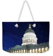 Utah Capitol Building At Twilight Weekender Tote Bag