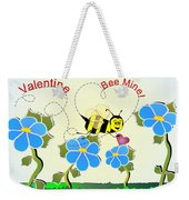 Valentine Bee Mine Weekender Tote Bag