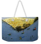 Valley And Sunlit Hillside Weekender Tote Bag