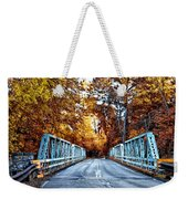 Valley Green Road Bridge In Autumn Weekender Tote Bag by Bill Cannon