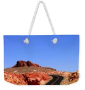 Valley Of Fire Road And Sky Nevada Weekender Tote Bag