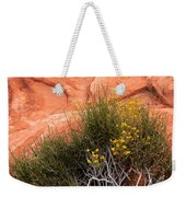 Valley Of Fire Yellow Vegetation Nevada Weekender Tote Bag