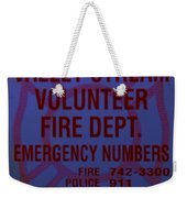 Valley Stream Fire Department In Blue Weekender Tote Bag by Rob Hans