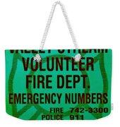 Valley Stream Fire Department In Irish Green Weekender Tote Bag