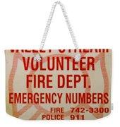 Valley Stream Fire Department Weekender Tote Bag
